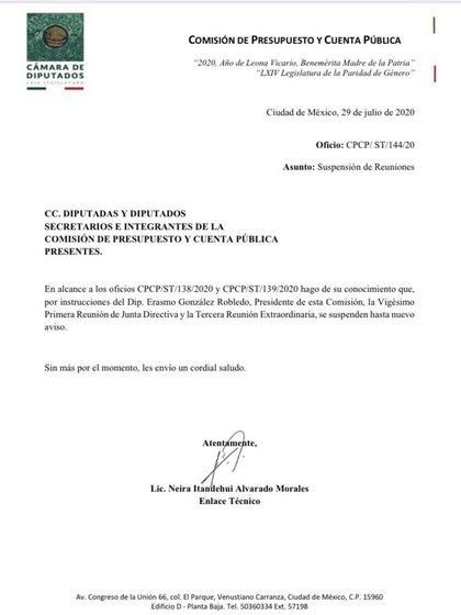 La Comisión de Presupuesto y Cuenta Pública no pudo reunirse para votar el dictamen (Foto: Especial)