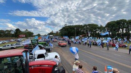 Esta semana una vez más el campo se movilizó. La ciudad santafesina de Avellaneda, volvió a ser el centro de la escena. El reclamo va más allá de Vicentin (Pablo Lupa)