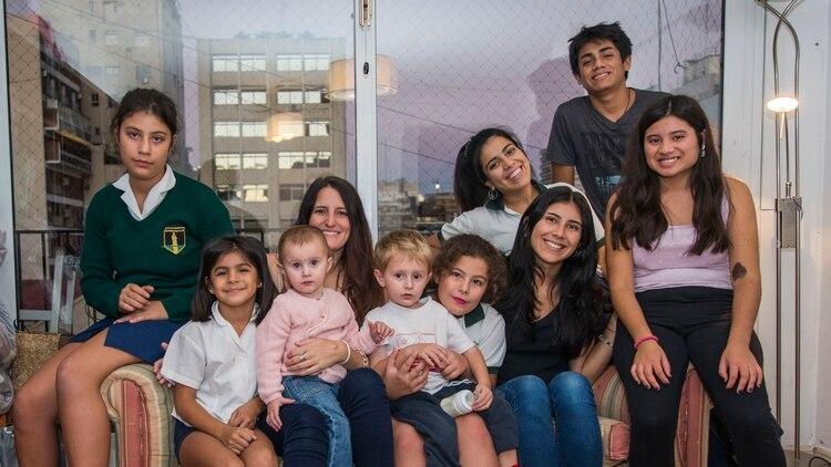 Catalina y sus hijos viven ahora en Buenos Aires