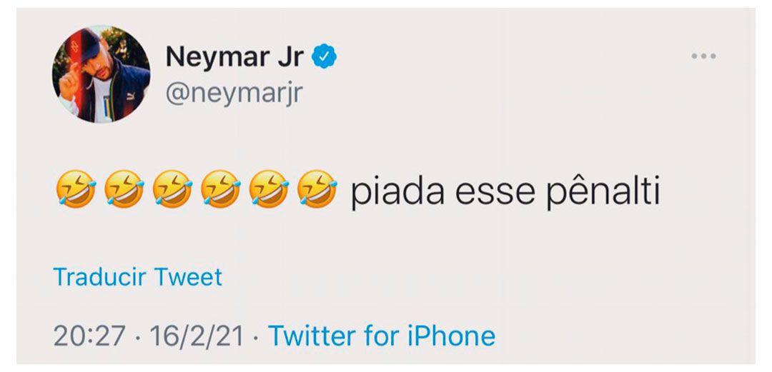 Neymar Queja Penal