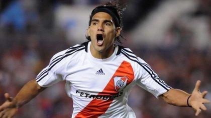 Radamel Falcao llegó a las inferiores de River en 2001.