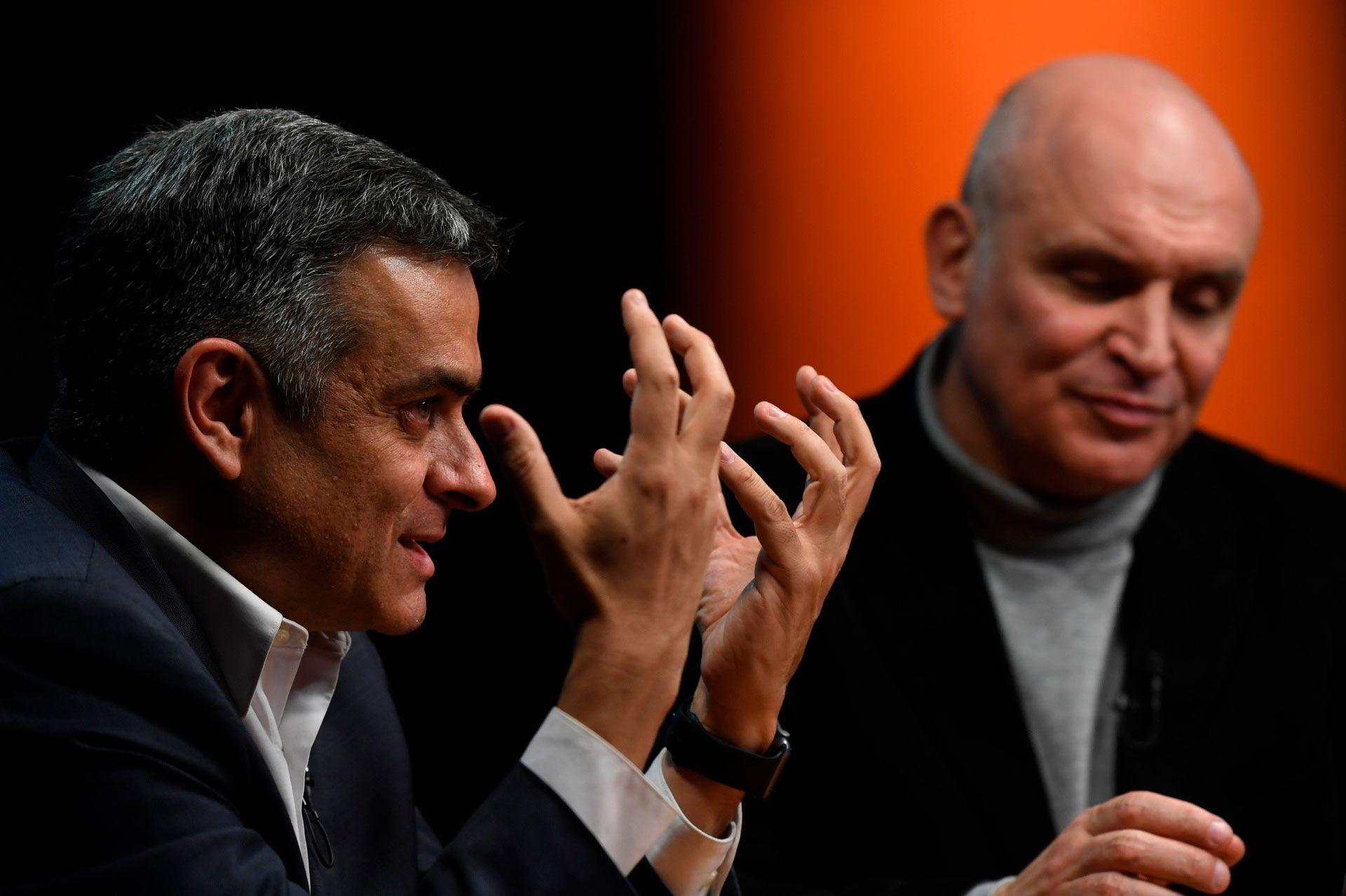 Luis Rosales y José Luis Espert en Infobae (Foto: Maximiliano Luna)