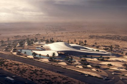 Con un diseño inspirado en la forma de dunas de arena y orientado a optimizar los vientos dominantes, el complejo busca alcanzar los más altos estándares de energía renovable y objetivos de futuro sostenibles (Zaha Hadid)