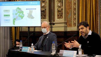 El ministro de Salud, Daniel Gollan, aseguró que el nivel de contagios está estabilizado en la zona del AMBA (Télam)
