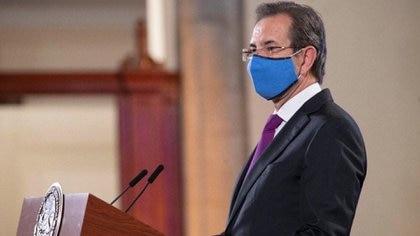 Secretario de Educación Pública, Esteban Moctezuma Barragán  Foto: Presidencia de México