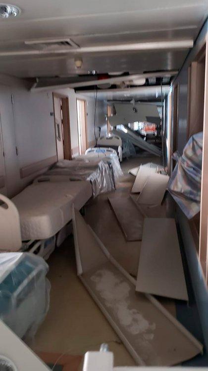 Las instalaciones del hospital Saint George en Beirut destrozadas por la explosión (Crédito Fundación Nínawa Daher)