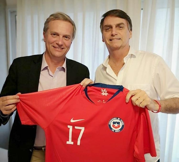 Jose Antonio Kast junto a Jair Bolsonaro