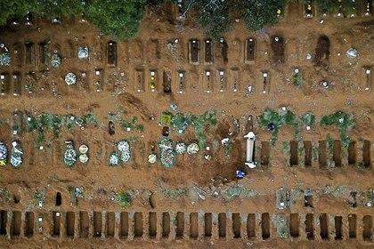 El cementerio de Vila Formosa, el más grande de Brasil, en Sao Paulo, el 13 de mayo de 2020 (REUTERS / Amanda Perobelli)