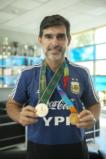 Roberto Ayala ganó dos medallas olímpicas: plata en Atlanta 1996 y oro en Atenas 2004 (Gastón Taylor)