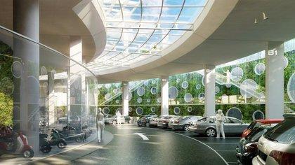 Todas las instalaciones, como el garage, estarán ventiladas naturalmente (Vincent Callebaut Architectures)
