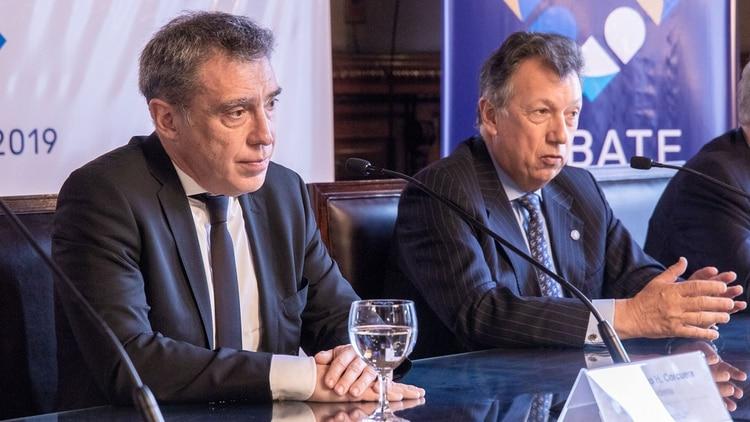 Los jueces Santiago Corcuera y Alberto Dalla Via eligieron los nombres de los periodistas (Universidad Nacional Litoral)
