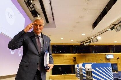Michel Barnier, the eu's trade negotiator. EFE/EPA/OLIVIER MATTHYS /File