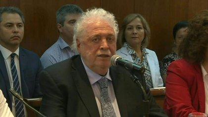 El ministro de Salud, Ginés González, en su anterior visita a la Comisión de Salud de Diputados. (SOUNDBITE)