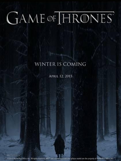 Un afiche promocional de la popular serie de HBO