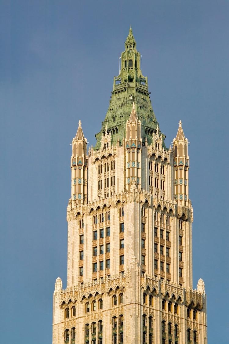 Construido en 1913 y diseñado por Cass Gilbert, el edificio Woolworth de Manhattan fue el más alto del mundo hasta que en 1930 se construyó el Chrysler (Shutterstock)