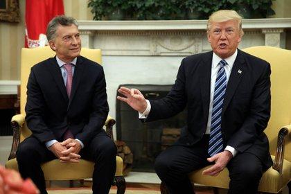 Mauricio Macri junto al presidente de los Estados Unidos, Donald Trump (Imagen de archivo)