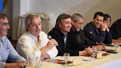 El presidente, Alberto Fernández y el diputado nacional y referente de La Cámpora, Máximo Kirchner