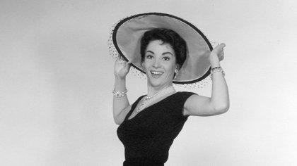"""Linda Cristal  en """"The Perfect Furlough"""" (1958 )"""