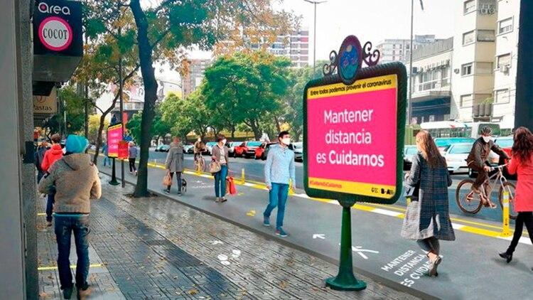 Más de 100 calles porteñas se volverán peatonales para facilitar el desplazamiento de la gente con distanciamiento social (GCBA)