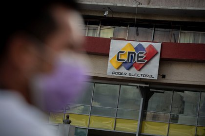 View of the main headquarters of the National Electoral Council (CNE), in Caracas (Venezuela) (EFE)