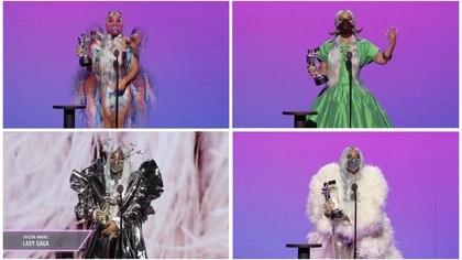 """Lady Gaga fue la gran ganadora de la noche, con cuatro estatuillas, siendo la de """"Tricon"""" una novedad (Foto: Viacom)"""