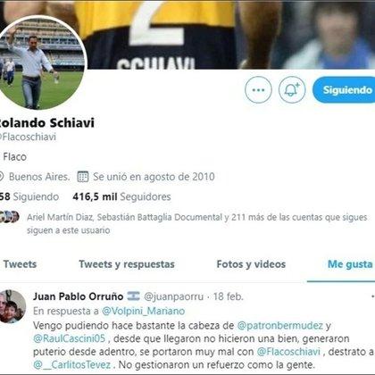 """El polémico tuit contra Bermúdez y Cascini que Schiavi dio """"me gusta"""""""