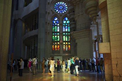 Durante los últimos meses de su vida, Antoni Gaudí vivió en el taller de la obra en la basílica, luego de más de una década de dedicarse exclusivamente a este proyecto (AFP/ JOSEP LAGO)