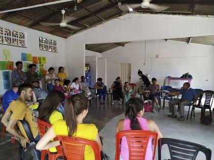 Reuniones de grupos focales, para indagar sobre una información más específica de la región. Foto: UNAL