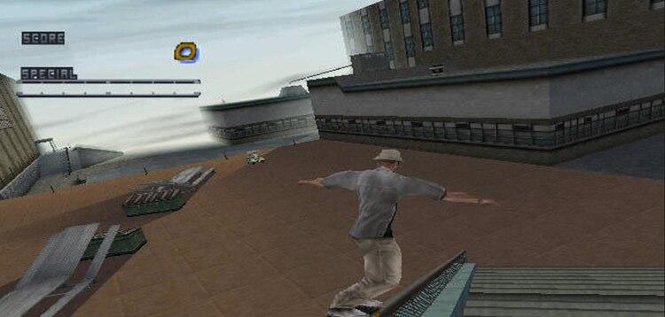 El protagonista se desplaza por un skate por diferentes entornos.