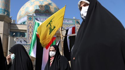 People gather in support of Palestine, in Tehran