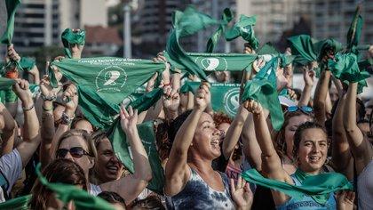 Postal de la última marcha por el aborto realizada en Mar del Plata (Christian Heit)