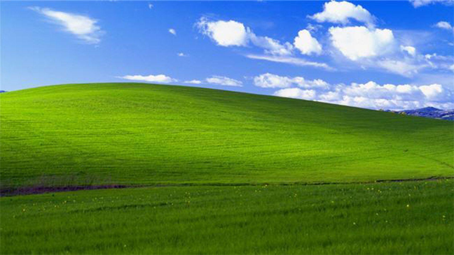"""""""Bliss"""" es el nombre de la imagen que se convirtió en el icónico fondo de pantalla de Windows XP (Foto: Microsoft)"""