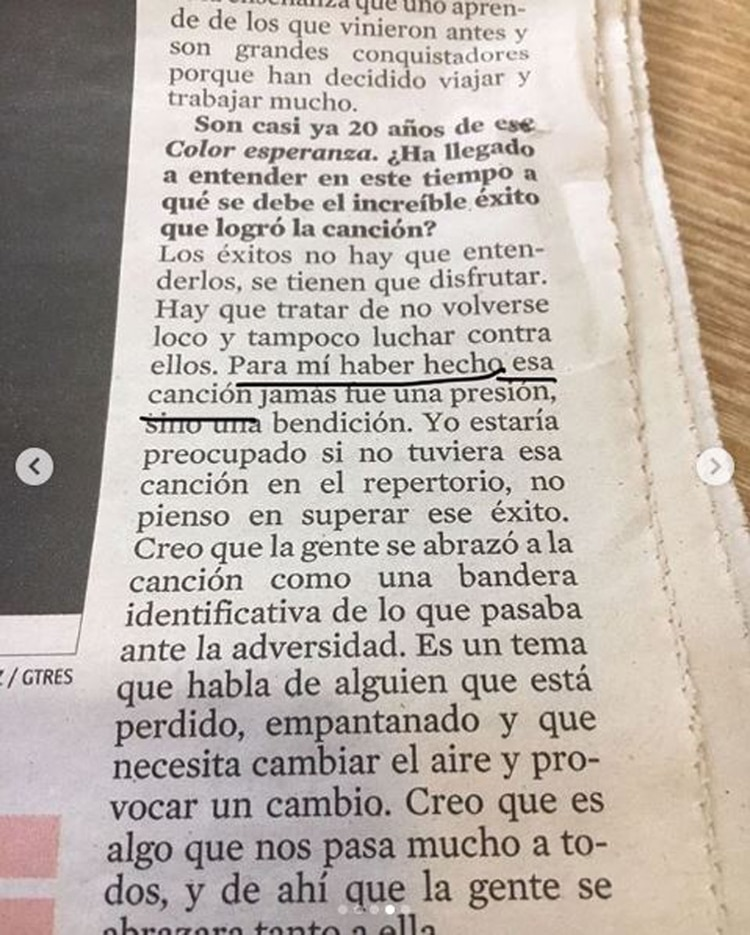La declaración de Diego Torres que provocó el enojo de su colega (Foto: Instagram)