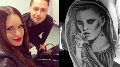 El futbolista lleva tatuada en su piel la cara de la modelo