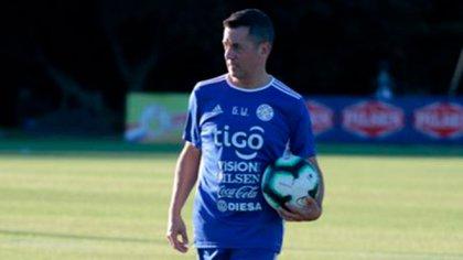 Gabriel Wainer en su paso por el seleccionado paraguayo