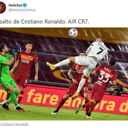 """""""AIR CR7"""", otro tuit con el que se destacó el salto de Cristiano Ronaldo"""