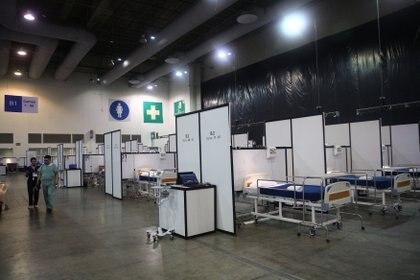 La unidad temporal para atender pacientes de Covid-19 que se habilitó en Centro Citibanamex comenará operar el próximo lunes (Foto: Reuters/Edgard Garrido)
