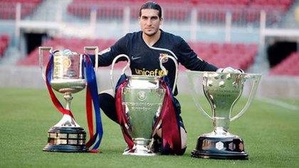 Pinto estuvo entre 2008 y 2014 en el Barcelona