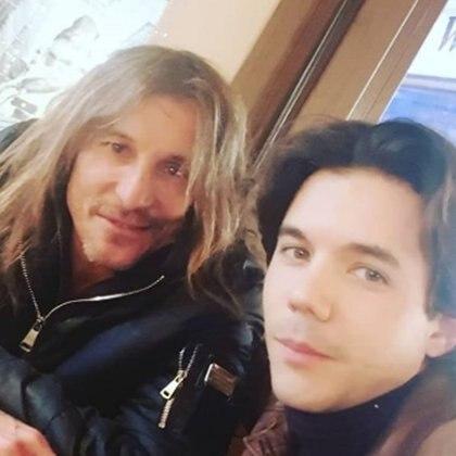 Claudio y Axel Caniggia (Instagram)