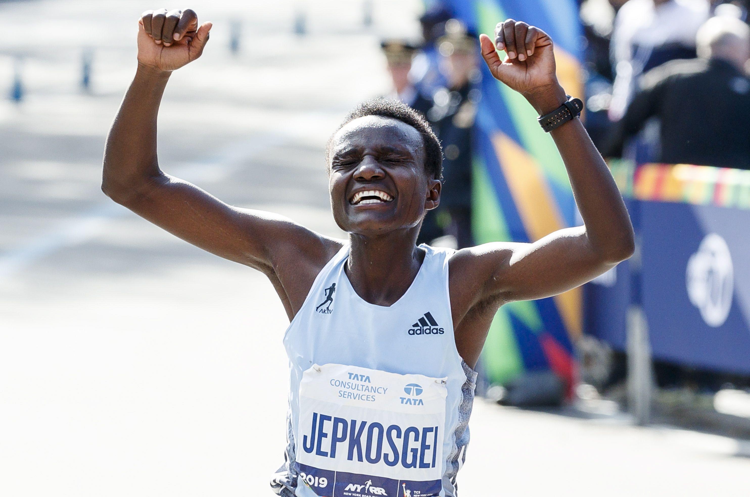 La atleta keniana Joyciline Jepkosgei. EFE/EPA/JUSTIN LANE/Archivo