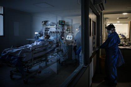 Un médico revisa pacientes COVID-19 en la Unidad de Terapia Intensiva (Foto: EFE)