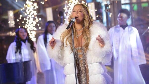 Mariah Carey en el festejo de año nuevo en Time Square (Photo by Brent N. Clarke/Invision/AP)