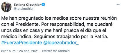 Tatiana Clouthier attended a meeting with businessmen and President López Obrador last Friday (Photo: Twitter)