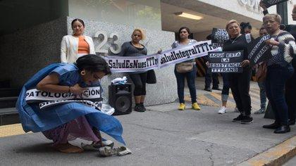 En varias ocasiones la comunidad trans de la Ciudad de México han expresado su rechazo a la construcción de la clínica especializada (Foto: Cuartoscuro)