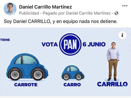 Son bastantes los ejemplos de candidatos ''haciendo un circo'' (Foto: Captura de pantalla Facebook-Daniel Carrillo Martínez)