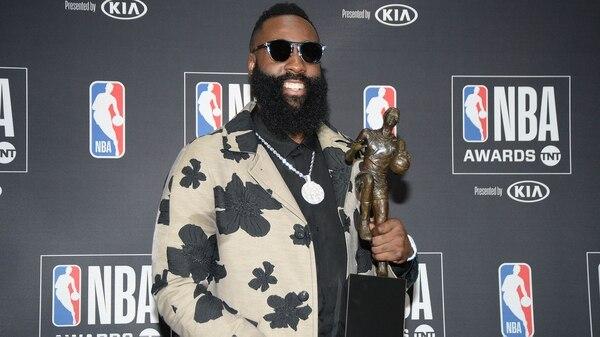James Harden fue elegido Jugador Más Valioso (MVP) de la NBA (AP)