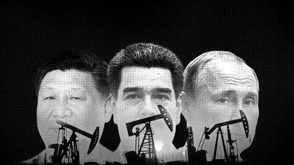 Xi Jinping, Nicolás Maduro y Vladimir Putin, unidos por el petróleo