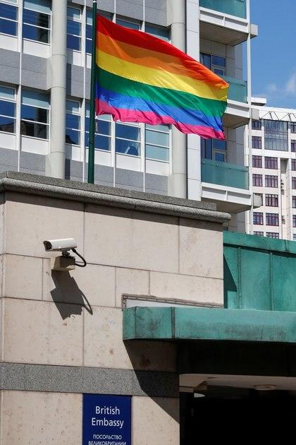 El jueves se cumplió el 42 aniversario de la primera aparición de la bandera arcoíris como símbolo del orgullo gay en el desfile del Orgullo de 1978 en San Francisco (REUTERS/Shamil Zhumatov)