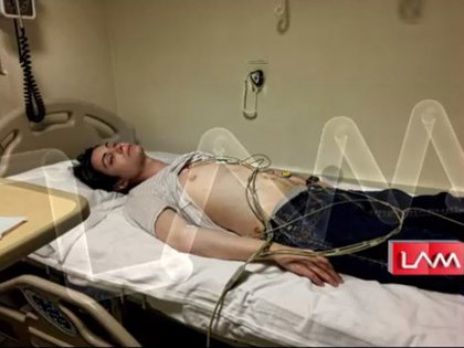 Otra de las fotos que hizo llegar Felipe: en el sanatorio