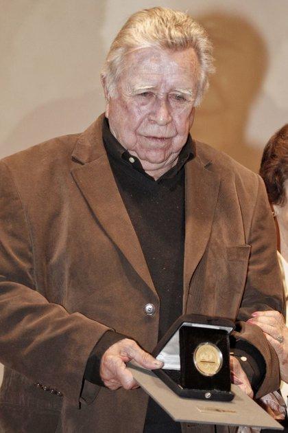 Felguérez en febrero de 2016, al recibir la Medalla Bellas Artes  (Foto: Cuartoscuro)